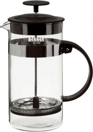 Френч-пресс Bekker DeLuxe BK-390 чёрный 0.8 л стекло френч пресс bekker deluxe 0 6 л bk 364