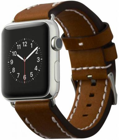 Ремешок Cozistyle Leather Band 42mm коричневый CLB012 stainless steel 42mm band wristband strap with butterfly clasp for iwatch series 3 2 1