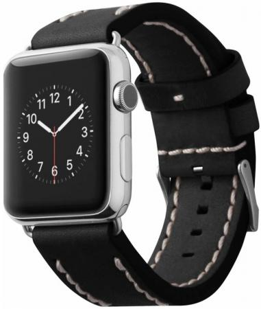 Ремешок Cozistyle Leather Band 42mm черный CLB010 stainless steel 42mm band wristband strap with butterfly clasp for iwatch series 3 2 1