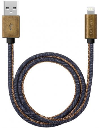 Кабель Lightning 1.2м Deppa 72275 круглый кабель