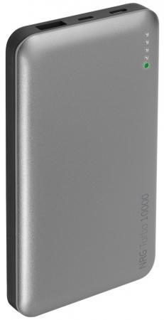 Внешний аккумулятор Deppa NRG Turbo 10000mAh 3.1A черный/графит 33518 внешний аккумулятор автономное зу slim 10000mah partner