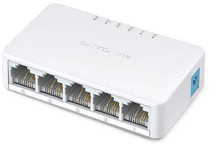 все цены на Коммутатор Mercusys MS105 неуправляемый 5 портов 10/100Mbps онлайн