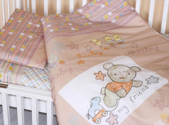 Постельное бельё Золотой Гусь Zoo Bear (бежевый) постельное бельё золотой гусь zoo bear бежевый