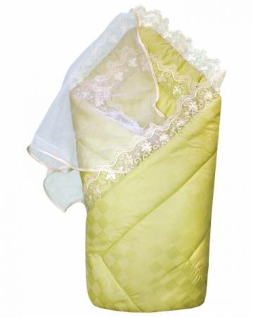 Конверт-одеяло на выписку Золотой Гусь (сатин-жакард/зелёный) конверт на выписку супермамкет justcute совы зима флис бант