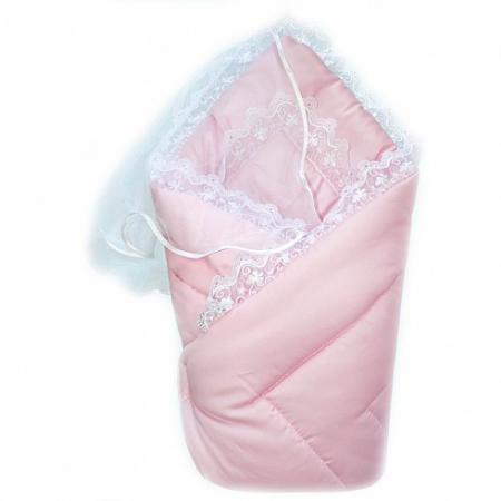 Конверт-одеяло на выписку Золотой Гусь (сатин-жакард/розовый) цена
