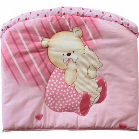 Бампер в кроватку Золотой Гусь Мишутка (розовый) карман на кроватку bombus светик розовый