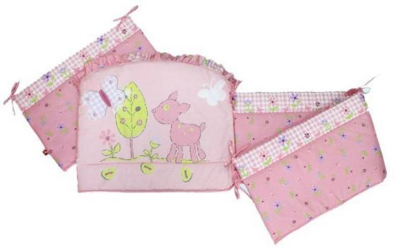 Бампер в кроватку Золотой Гусь Little Friend (розовый) комплект в кроватку золотой гусь mika сатин 7 пр розовый