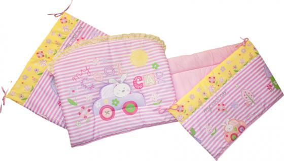 Бампер в кроватку Золотой Гусь Cool Car (розовый) карман на кроватку bombus светик розовый