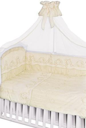 Постельный сет 7 предметов Золотой Гусь Зая-Зай (молочный) моя зая мягкая игрушка моя зая животные 42 см 2134321