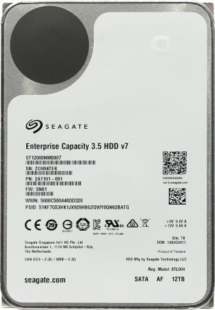 Жесткий диск 3.5 12 Tb 7200rpm Seagate Enterprise Capacity SATAIII ST12000NM0007 жесткий диск 3 5 4tb 7200rpm seagate enterprise capacity sataiii st4000nm0035