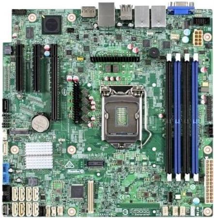Материнская плата Intel S1200SPLR Socket 1151 C236 4xDDR4 1xPCI-E 16x 1xPCI-E 4x 1xPCI-E 8x 8 mATX Retail DBS1200SPLR951869 материнская плата intel dbs1200sps socket 1151 c232 4xddr4 1xpci e 4x 2xpci e 8x 6xsataiii matx retail