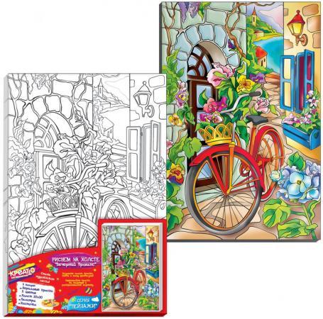 Набор для росписи по холсту Креатто Букет прованса от 3 лет набор для росписи по холсту креатто лебеди от 3 лет 30895