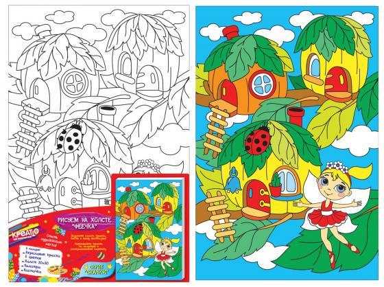 Набор для росписи по холсту Креатто Феечка от 3 лет набор для росписи по холсту креатто лебеди от 3 лет 30895