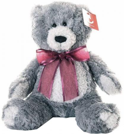 Мягкая игрушка медведь AURORA Медведь 15-328 20 см серый искусственный мех текстиль пластик aurora медведь коричневый сидячий 61589