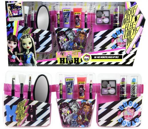 Игровой набор детской декоративной косметики Markwins «Monster high»  поясом визажиста 9706551
