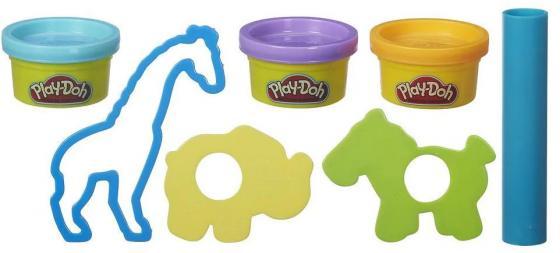 Набор для лепки PLAY-DOH Зоопарк B4159 3 цвета в ассортименте всё для лепки play doh игровой набор город магазинчик домашних питомцев