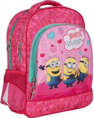 Дошкольный рюкзак с усиленной спинкой РОСМЭН Миньоны красный розовый 31901 рюкзак росмэн гадкий я love средний