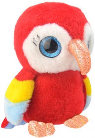 Мягкая игрушка попугай Wild Planet Попугайчик 19 см красный искусственный мех текстиль пластик K8167