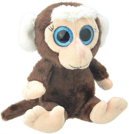 Мягкая игрушка обезьянка Wild Planet Мартышка 19 см коричневый бежевый искусственный мех пластик K8171