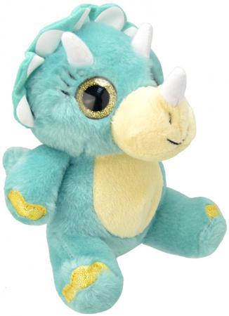 Мягкая игрушка динозавр Wild Planet Трицератопс 19 см искусственный мех текстиль K7866