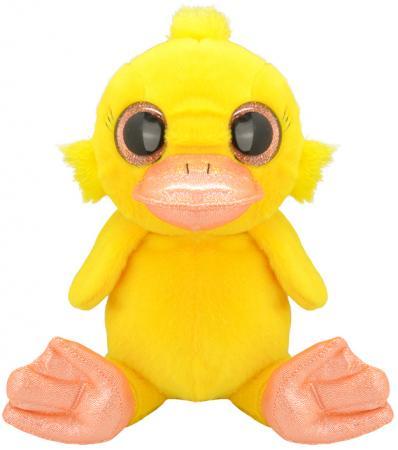 Мягкая игрушка Wild Planet Утёнок 30 см желтый искусственный мех текстиль K7877