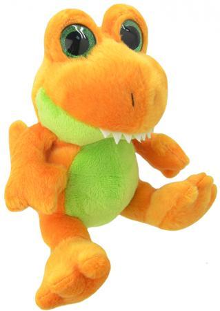Мягкая игрушка динозавр Wild Planet Orbys - Динозавр Тирекс 20 см оранжевый зеленый искусственный мех пластик K8163 мягкая игрушка dragons крушиголов цвет зеленый бордовый 24 см