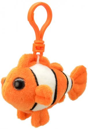 """Брелок рыба Wild Planet """"Рыба-клоун"""" 9 см оранжевый белый черный искусственный мех пластик K8320 брелок поросенок wild planet поросенок 9 см розовый голубой искусственный мех пластик k8177"""