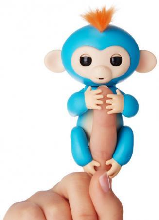 Интерактивная игрушка обезьянка WowWee Fingerlings - Борис 12 см синий пластик 3703A цена