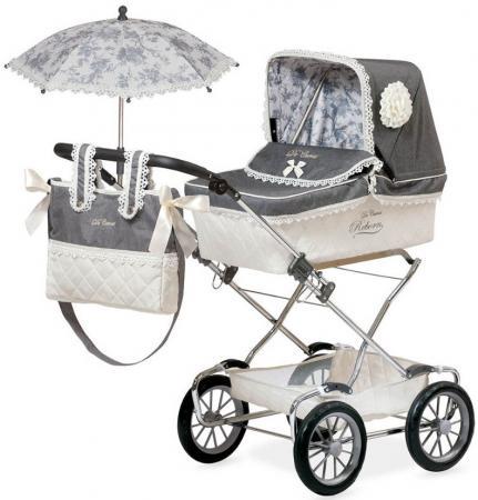 Коляска для кукол DeCuevas Реборн с сумкой и зонтиком, 90 см 82000 коляска для кукол bambolina boutique с поворотными колесами в комплекте с куклой и набором аксессуаров