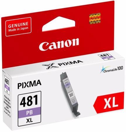 Картридж Canon CLI-481XL PB для Canon PixmaTS8140TS/TS9140 фото голубой 2048C001 картридж canon cli 481xl m пурпурный [2045c001]