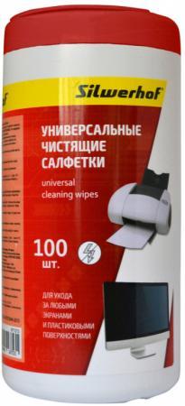Чистящие салфетки Silwerhof 671213 100 шт чистящие салфетки silwerhof notebook clean 100 шт 671203