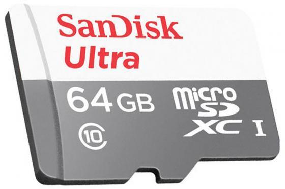 Карта памяти Micro SDXC 64Gb Class 10 Sandisk SDSQUNS-064G-GN3MN карта памяти sdxc 64gb class 10