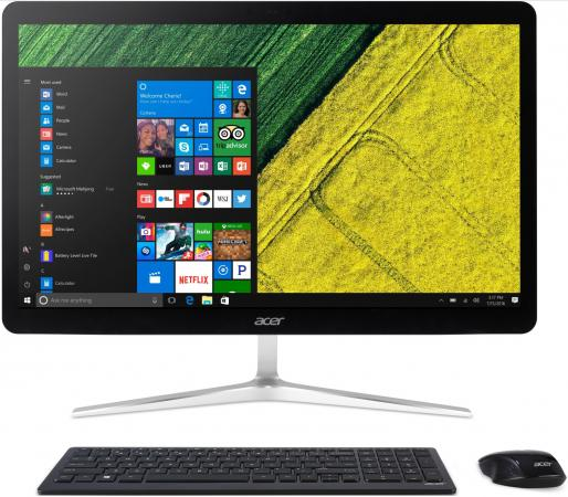 "Моноблок 23.8"" Acer Aspire Z24-880 1920 x 1080 Intel Core i5-7400T 4Gb 1Tb Intel HD Graphics 630 Windows 10 Home серебристый DQ.B8VER.005"