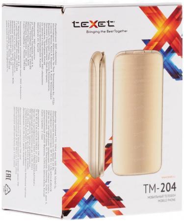 Мобильный телефон Texet TM-204 бежевый 2.4 мобильный телефон texet tm 204 красный 2 4 32 мб