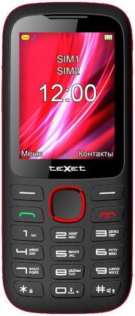 """все цены на Мобильный телефон Texet TM-D228 черный красный 2.4"""" 32 Мб онлайн"""
