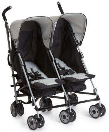 Коляска-трость для двоих детей Hauck Turbo Duo (caviar/stone) коляска 3 в 1 hauck miami 4s trioset caviar petrol