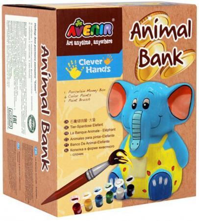 Набор для росписи копилки Avenir Clever Hands - Слон от 3 лет AL2016