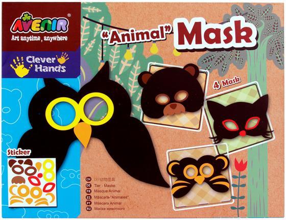 Набор для декорирования масок Avenir Создай маску - Животные от 3 лет CH1052 животные книга с наклейками для детей от 4 х лет