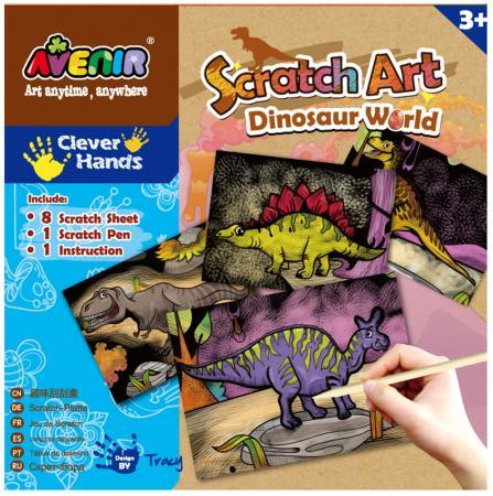 Набор для гравировки Avenir Мир Динозавров от 3 лет CH1255 наборы для творчества avenir набор для гравировки волшебные птички