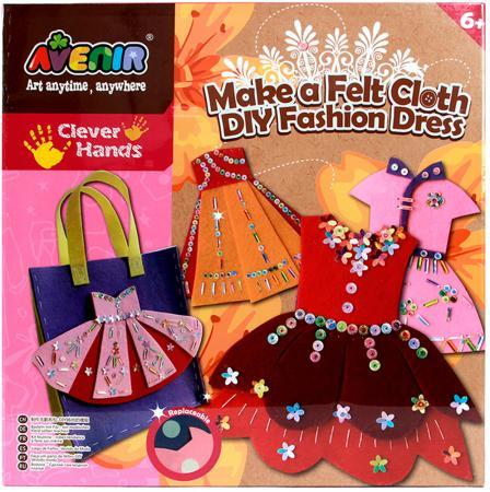 Набор для поделок из ткани Avenir Модное платье от 6 лет CH1308