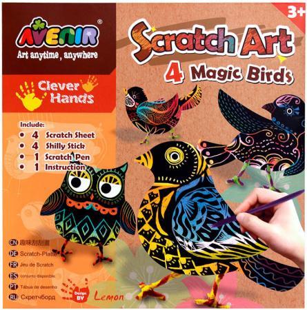 Набор для гравировки Avenir Волшебные птички от 3 лет наборы для творчества avenir набор для гравировки волшебные птички