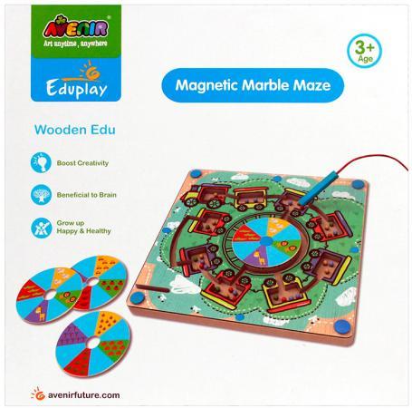 Настольная игра развивающая Avenir Деревянный лабиринт с магнитными шариками EP3048 деревянный лабиринт