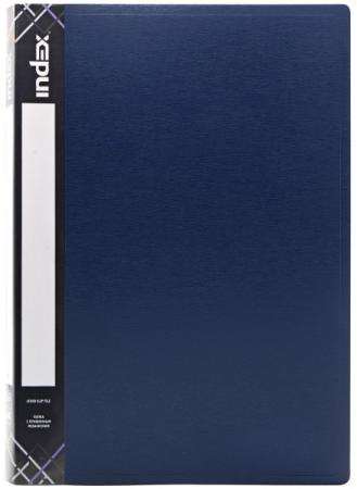 Папка с прижимным механизмом и карманом Index SATIN, форзац, ф.A4, 0,6мм, темно-синяя ICF02/11/BU папка с прижимным механизмом и карманом satin форзац ф a4 0 6мм темно зеленая