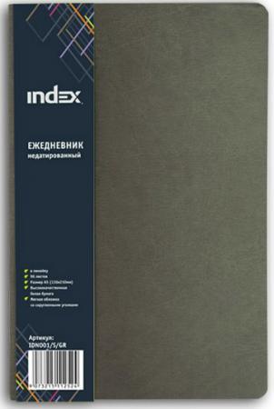 Ежедневник недатированный Index IDN001/S/GR A5 искусственная кожа кухонный смеситель omoikiri tateyama s gr латунь гранит leningrad grey 4994176
