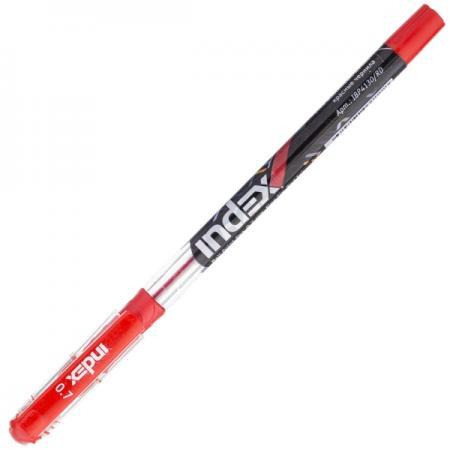 Шариковая ручка Index IBP4130/RD красный 0.7 мм шариковая ручка index ibp4120 rd красный 0 5 мм