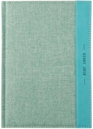 Ежедневник датированный Index Canvas 2018 A5 искусственная кожа IDD0718/A5/BU блокнот index in0103 a550 a5 50 листов в ассортименте