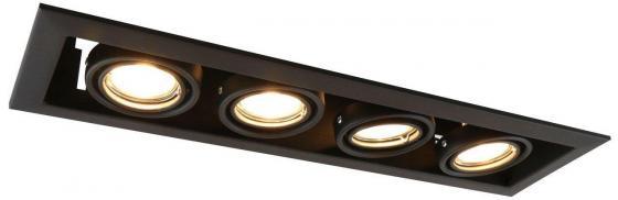 Встраиваемый светильник Arte Lamp Cardani Piccolo A5941PL-4BK встраиваемый спот точечный светильник arte lamp cardani a5935pl 4bk