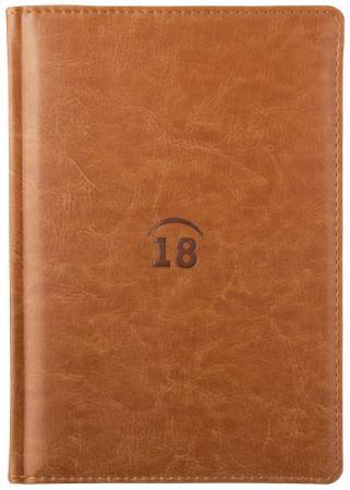 Ежедневник датированный Index Nature 2018 A5 искусственная кожа IDD0118/A5/BR блокнот index in0103 a550 a5 50 листов в ассортименте
