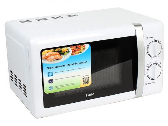 Микроволновая печь BBK 20MWS-804M 800 Вт белый микроволновая печь bbk 23mws 927m w 900 вт белый