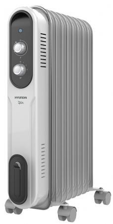 купить Масляный радиатор Hyundai H-HO-9-07-UI847 1500 Вт белый серый недорого